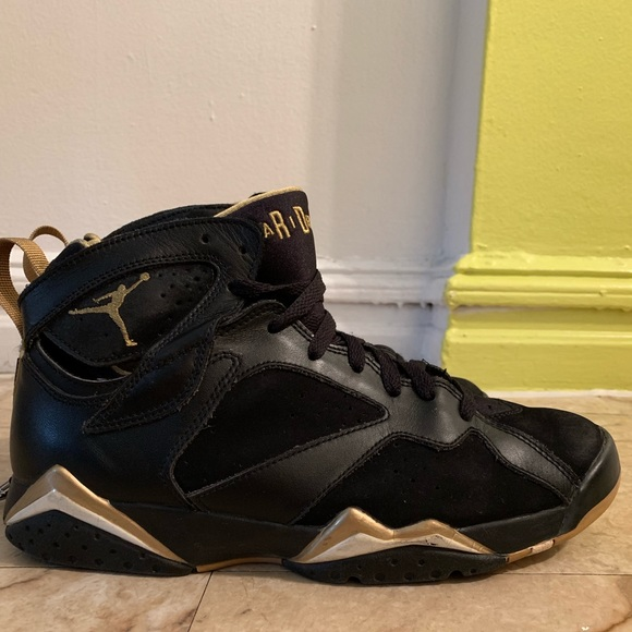 "ba879c35d788 Retro ""Gold Moments Package"" Air Jordan 7s. M 5c8e9c96a5d7c6e1a6365136"